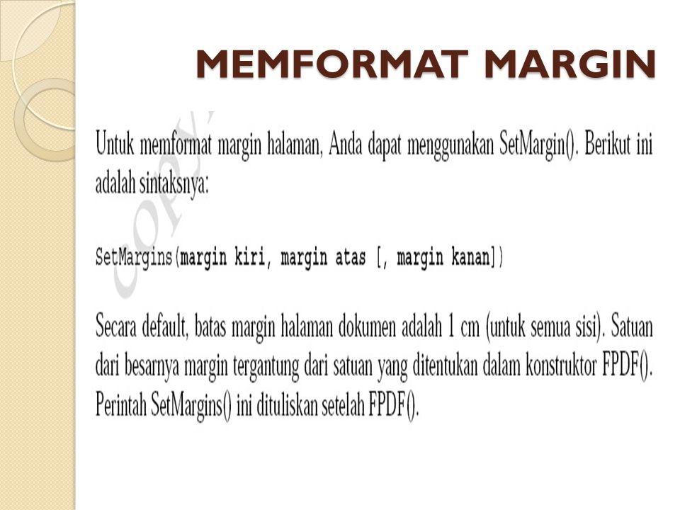 MEMFORMAT MARGIN