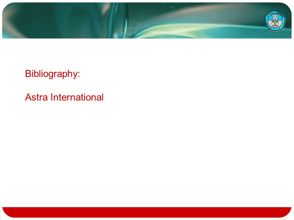 Bibliography: Astra International