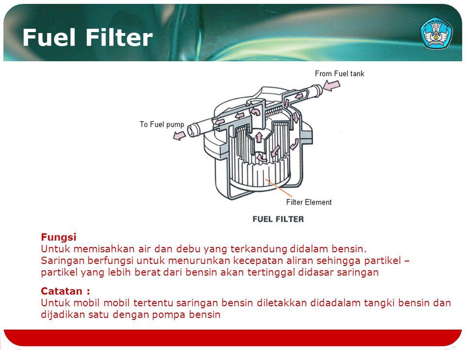 FUEL PUMP Catatan : Ada 2 jenis fuel pump, Machanical & Electric MECHANICAL FUEL PUMP
