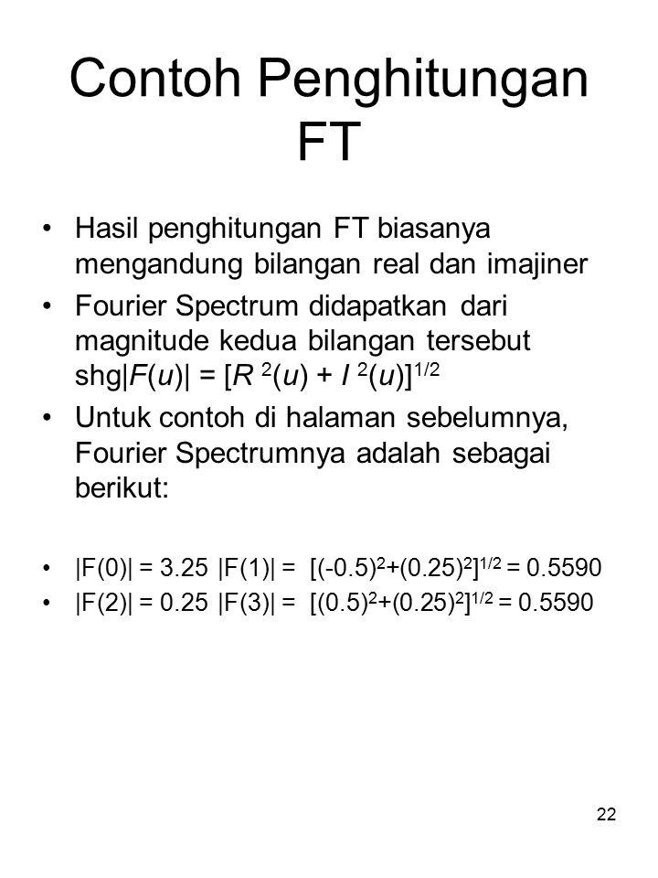 23 Rumus FT – 2 dimensi Rumus FT 2 dimensi
