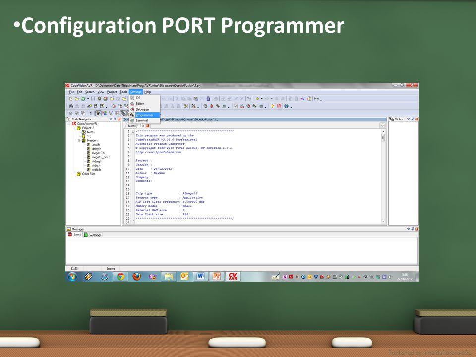 Configuration PORT Programmer Published by. imeldaflorensia91