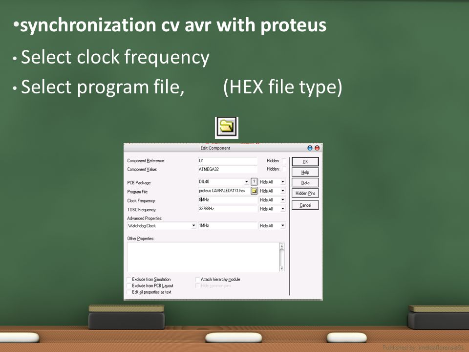 synchronization cv avr with proteus Select clock frequency Select program file, (HEX file type) Published by. imeldaflorensia91