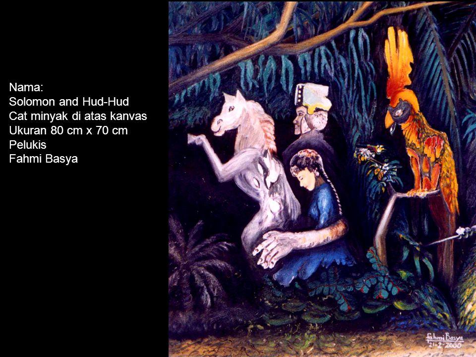 Nama: Api Musa Cat minyak di atas kanvas Ukuran 80 cm x 70 cm Pelukis Fahmi Basya