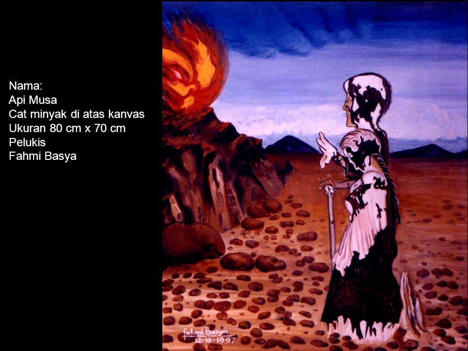 Nama: Terjungkal Cat minyak di atas kanvas Ukuran 100 cm x 90 cm Pelukis Fahmi Basya
