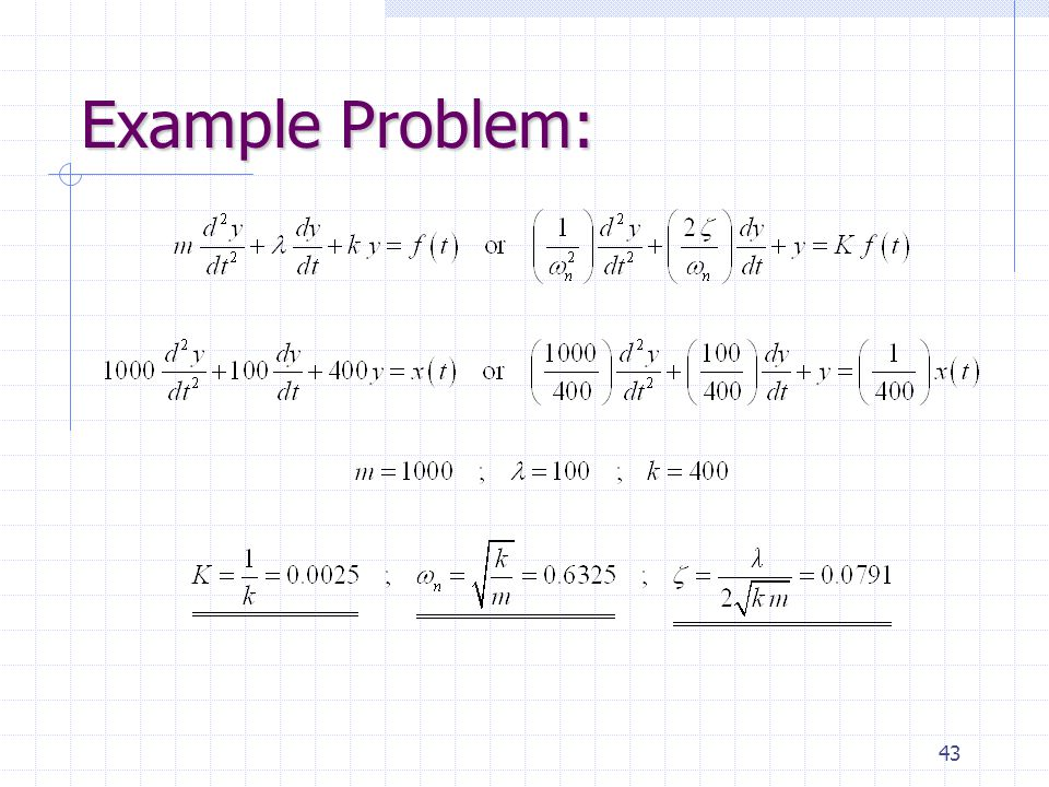 43 Example Problem: