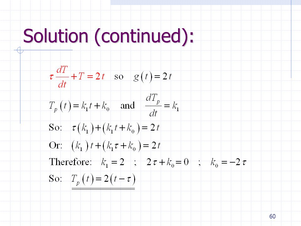 60 Solution (continued):