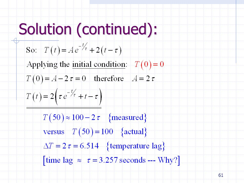 61 Solution (continued):
