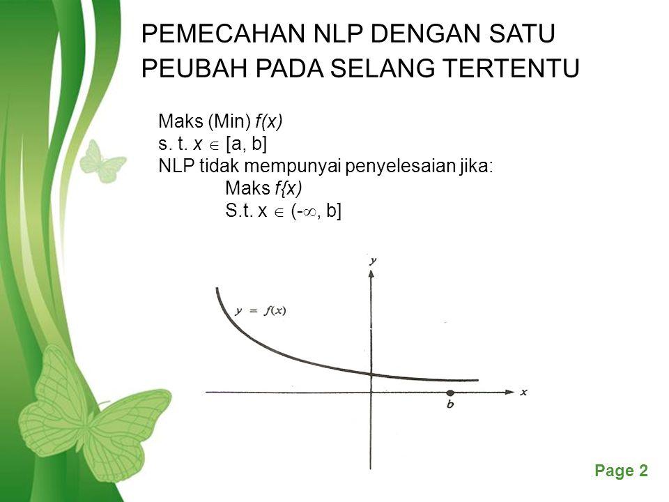 Free Powerpoint TemplatesPage 13 Kasus 2 Kemungkinan 4 f(x 0 ) < f(x 1 ); f(x 0 ) < f(x 2 ): x 0 lokal minimum