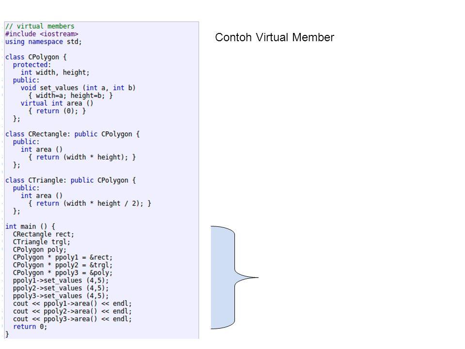 OPERATOR OVERLOADING Dilakukan untuk mengkustomisasi operator Contoh operator yang dapat dioverload