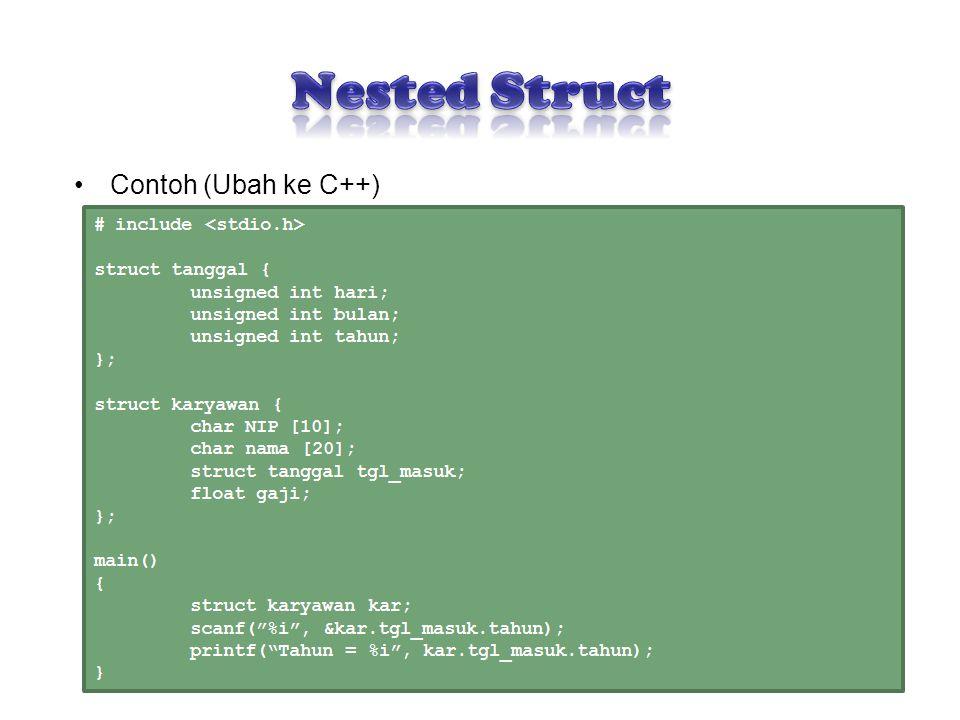 Contoh (Ubah ke C++) 12
