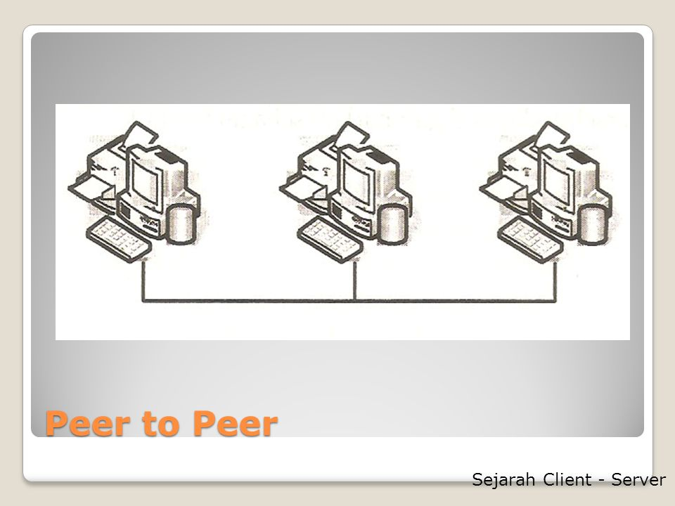 Peer to Peer Sejarah Client - Server