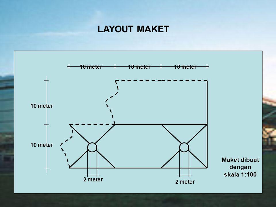 LAYOUT MAKET 10 meter 2 meter 10 meter Maket dibuat dengan skala 1:100