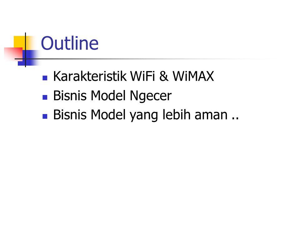 Outline Karakteristik WiFi & WiMAX Bisnis Model Ngecer Bisnis Model yang lebih aman..