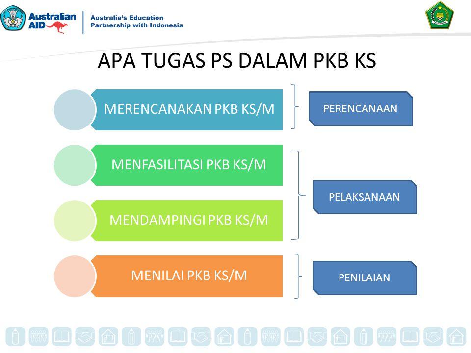 APA TUGAS PS DALAM PKB KS MERENCANAKAN PKB KS/M MENFASILITASI PKB KS/M MENDAMPINGI PKB KS/M MENILAI PKB KS/M PERENCANAAN PELAKSANAAN PENILAIAN