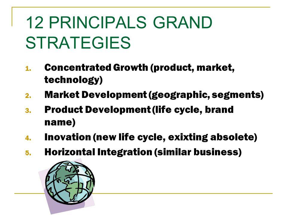 Strategi Generik Lain… Intensif : Market Development, Product Development, Market Penetration Integrasi: Forward/ Backward/Horizontal Integration Stra