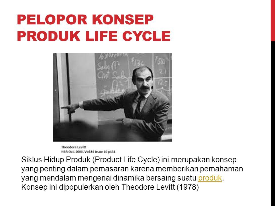 PELOPOR KONSEP PRODUK LIFE CYCLE Siklus Hidup Produk (Product Life Cycle) ini merupakan konsep yang penting dalam pemasaran karena memberikan pemahama