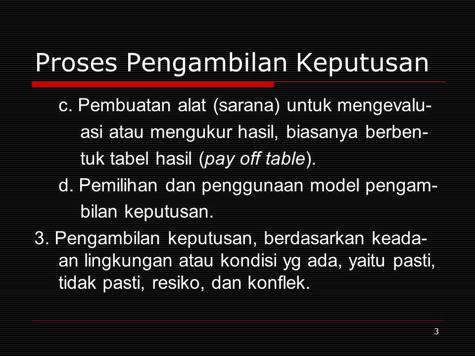 3 Proses Pengambilan Keputusan c.