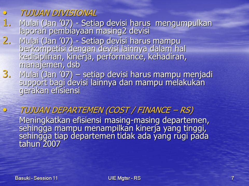 Basuki - Session 11UIE Mgtsr - RS7 TUJUAN DIVISIONAL TUJUAN DIVISIONAL 1.