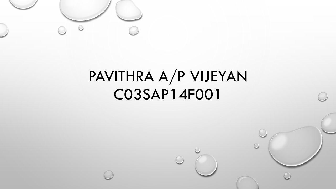 PAVITHRA A/P VIJEYAN C03SAP14F001