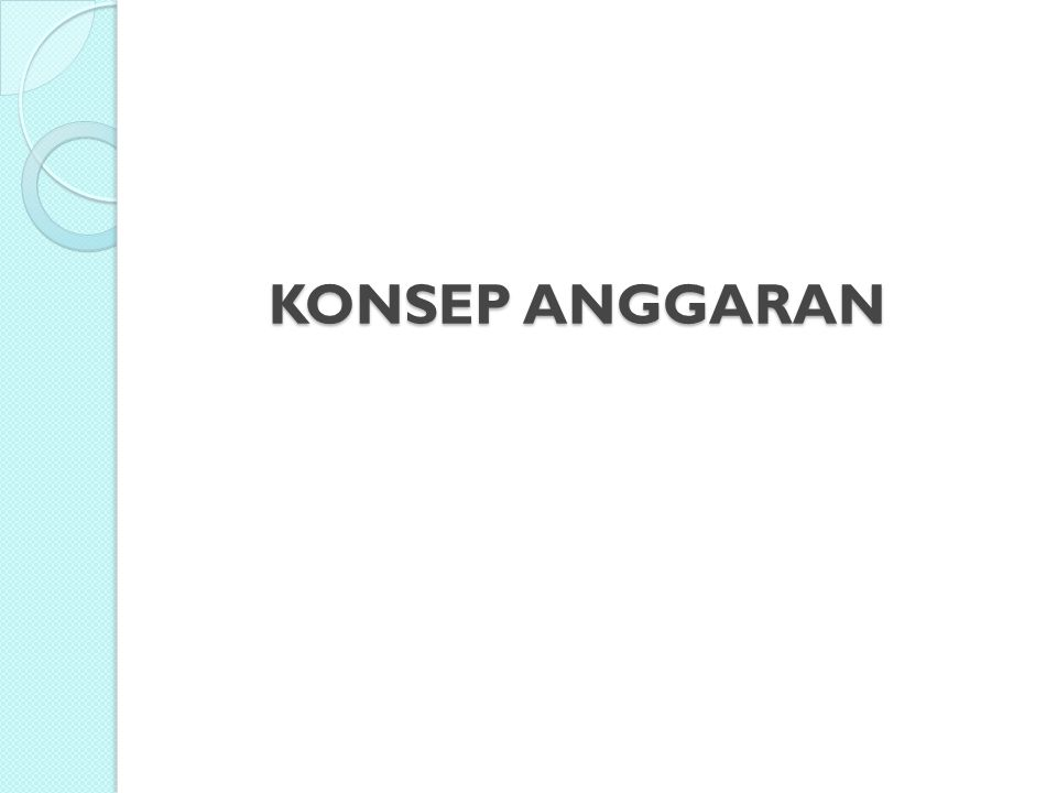 KONSEP ANGGARAN