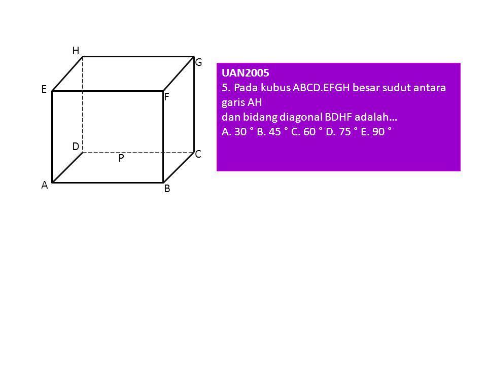 CP = ½ CA = 1/2. = CG = 6 GP = = = = GC' = = = = =. = CC' = = = = cm EBTANAS 1992 G P C C' 1/2 6 cm Jawabannya adalah B