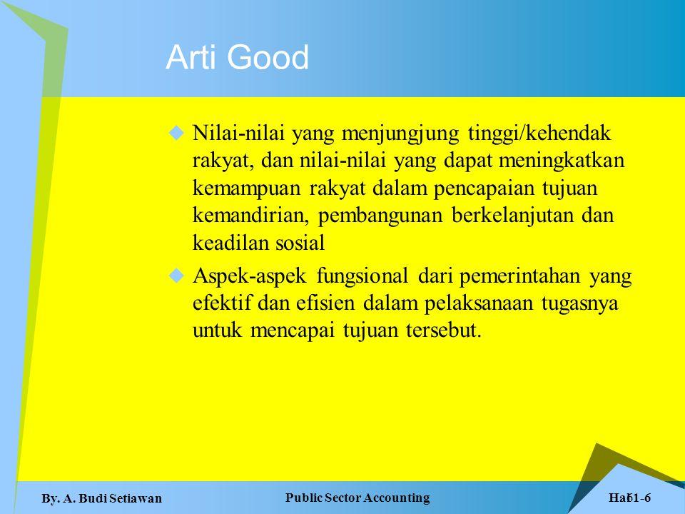 Hal 1-7 Public Sector Accounting By.A. Budi Setiawan 7 Prinsip Dasar 1.