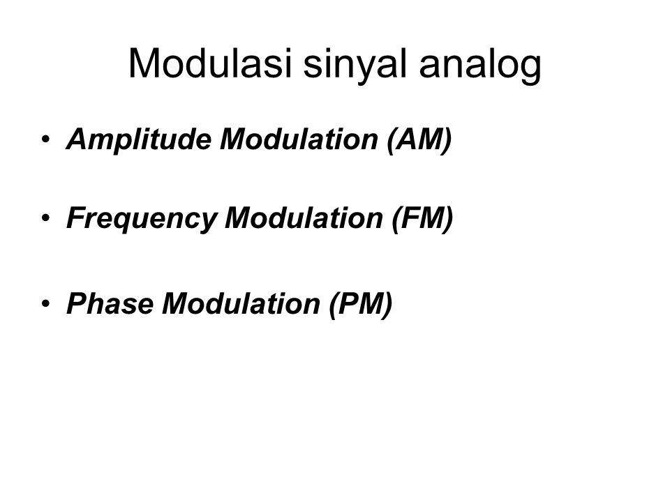 Modulasi sinyal analog Amplitude Modulation (AM) Frequency Modulation (FM) Phase Modulation (PM)