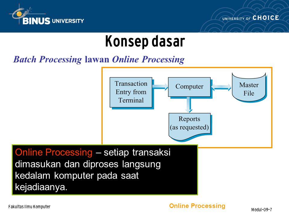 Fakultas Ilmu Komputer Modul-09-18 TPS, Functional Applications & Integration