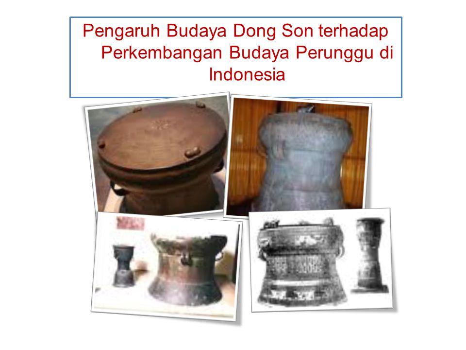 Pengaruh Budaya Dong Son terhadap Perkembangan Budaya Perunggu di Indonesia 3. Nekara yang ditemukan di Bali mempunyai 4 patung katak, menurut Bukti