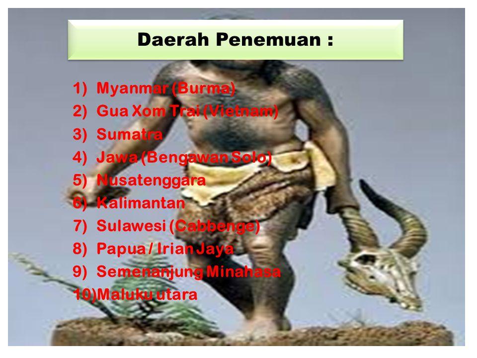 Penyebaran Nekara Tipe Heger 1)Sumatra 2)Jawa 3)Bali 4)Nusa Tenggara 5)Maluku Selatan