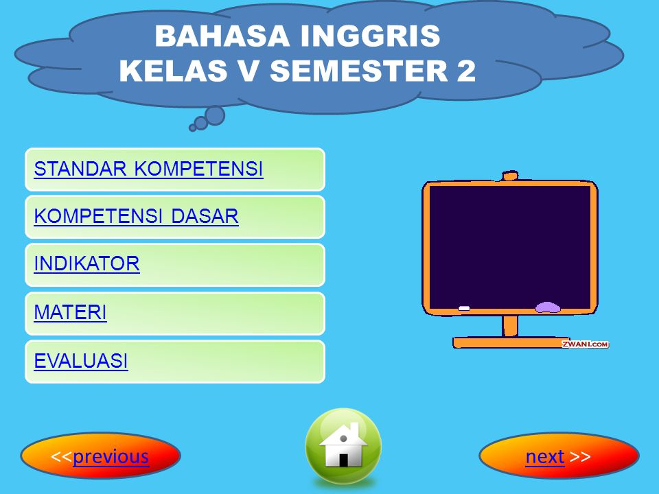 BAHASA INGGRIS KELAS V SEMESTER 2 NI PUTU SARININGSIH NPM. 09.8.03.51.31.2.5.3218