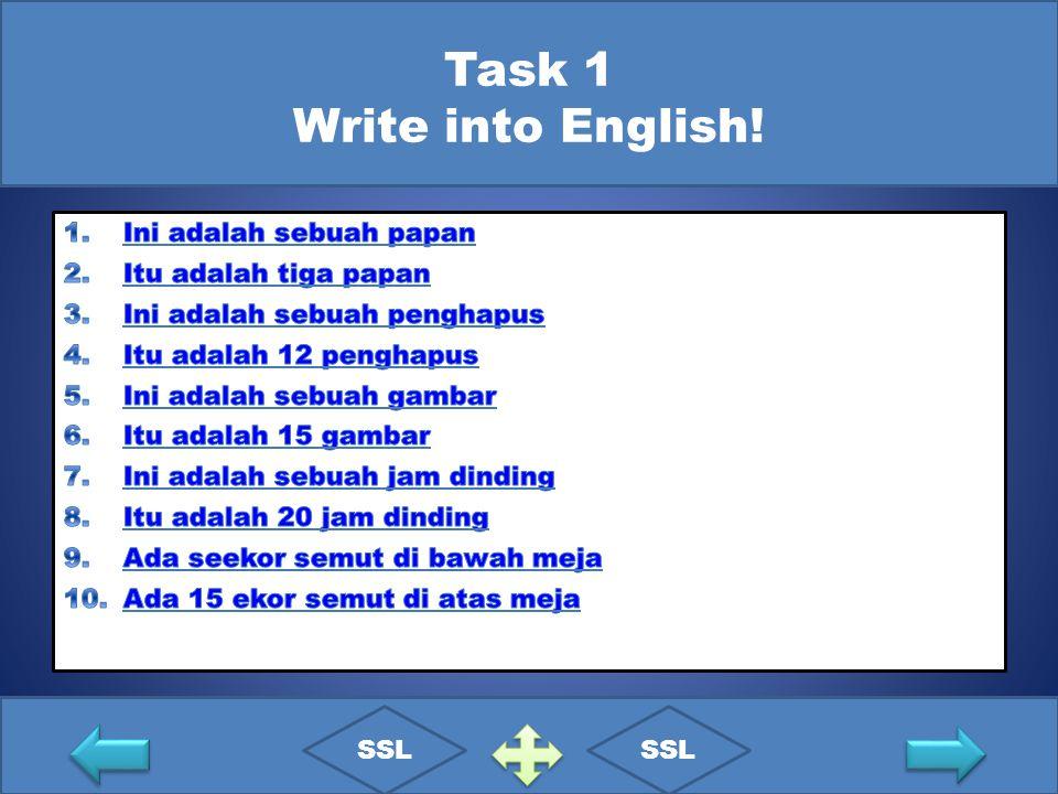 Task 1 Write into English! SSL