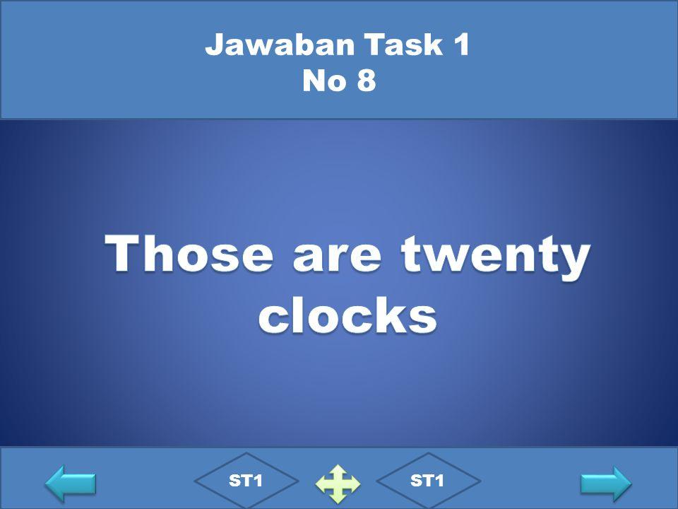 Jawaban Task 1 No 8 ST1