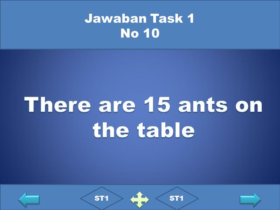 Jawaban Task 1 No 10 ST1
