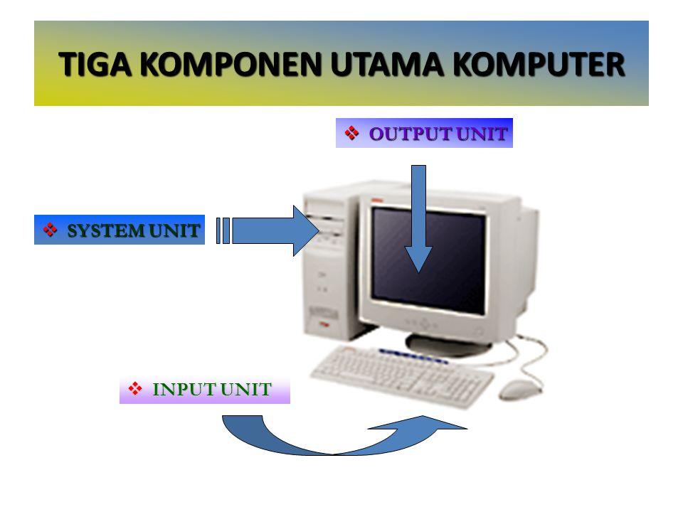 Perangkat Keras Komputer (Hardware) (cont.) Flash Memory – Secondary Storage Magnetic Storage – Magnetic tape