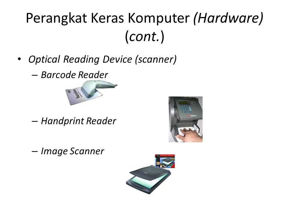 Optical Reading Device (scanner) – Barcode Reader – Handprint Reader – Image Scanner
