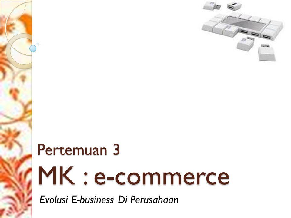 Pertemuan 3 MK : e-commerce Evolusi E-business Di Perusahaan