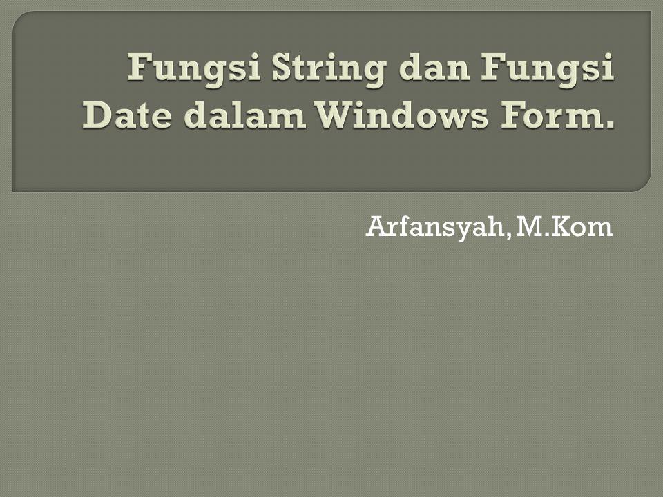 Arfansyah, M.Kom