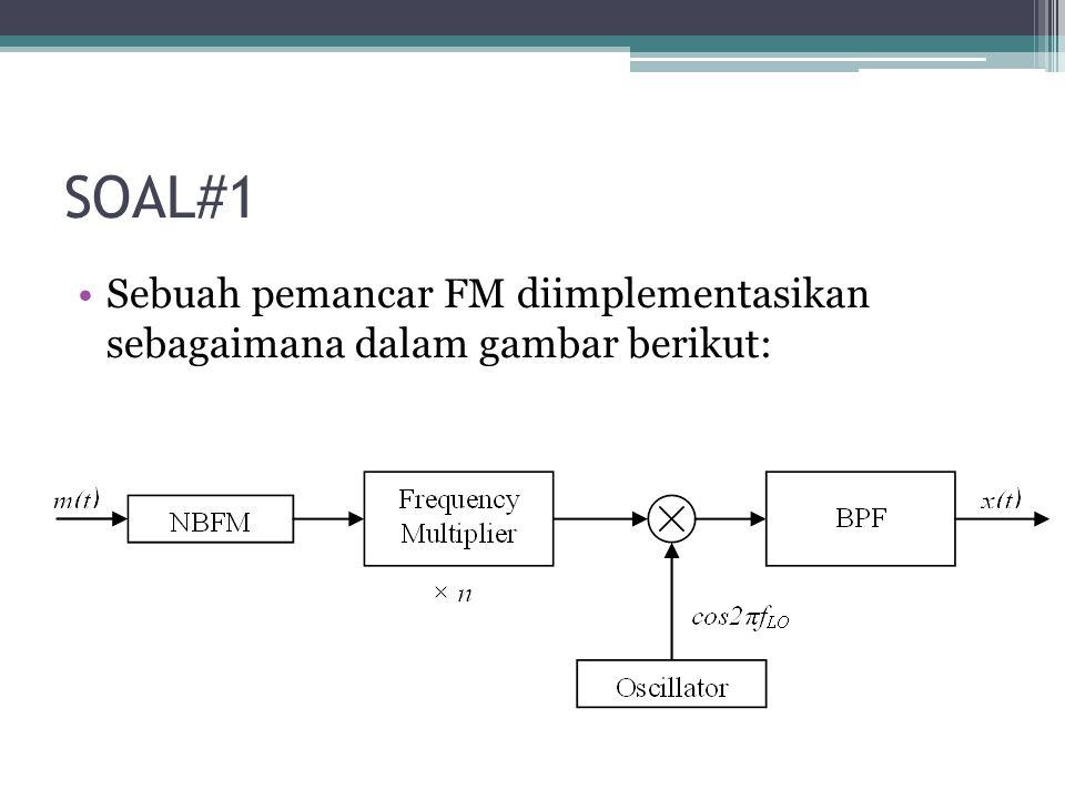 SOAL#1 Sinyal pemodulasi m(t) memiliki bandwidth 10 kHz.
