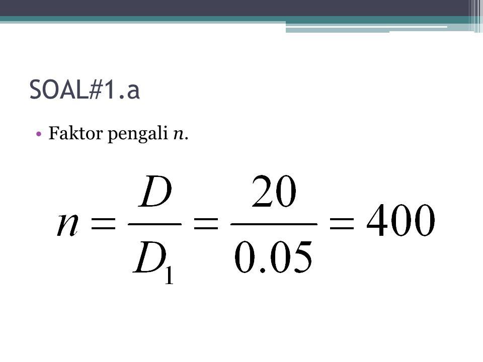 SOAL#1.b Frekuensi pada local oscillator (tentukan 2 frekuensi yang dapat digunakan).