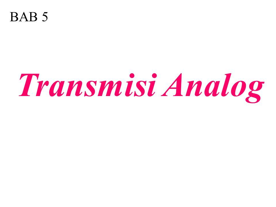 5.1 Tipe-tipe Modulasi Digital-ke-Analog Konversi Digital-ke-Analog Amplitude Shift Keying (ASK) Frequency Shift Keying (FSK) Phase Shift Keying (PSK) Quadrature Amplitude Modulation Terminologi Bit dan Baud