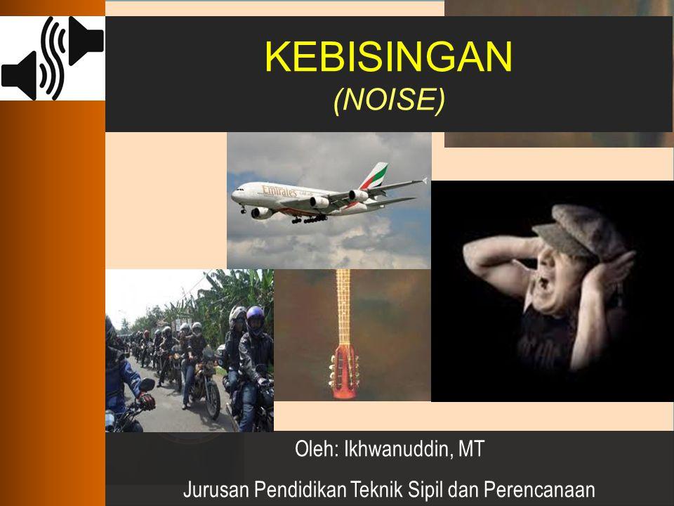 Kebisingan sebagai Masalah-01 Kebisingan menjadi keluhan terbesar oleh masyarakat jepang selama 3 dekade terakhir abad ke-20 Kebisingan merupakan salah satu masalah kesehatan lingkungan di kota-kota besar di dunia.