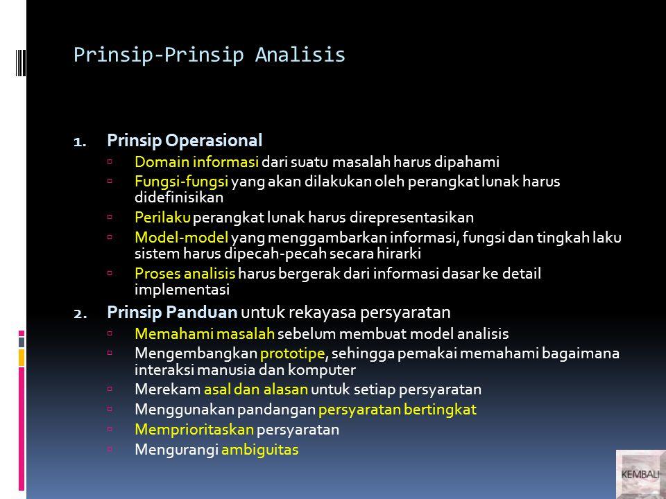 Prinsip-Prinsip Analisis 1.