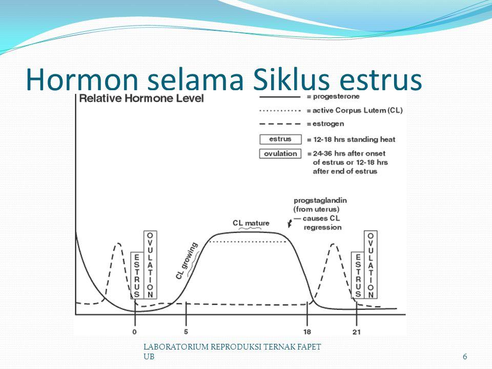 Hormon selama Siklus estrus LABORATORIUM REPRODUKSI TERNAK FAPET UB6