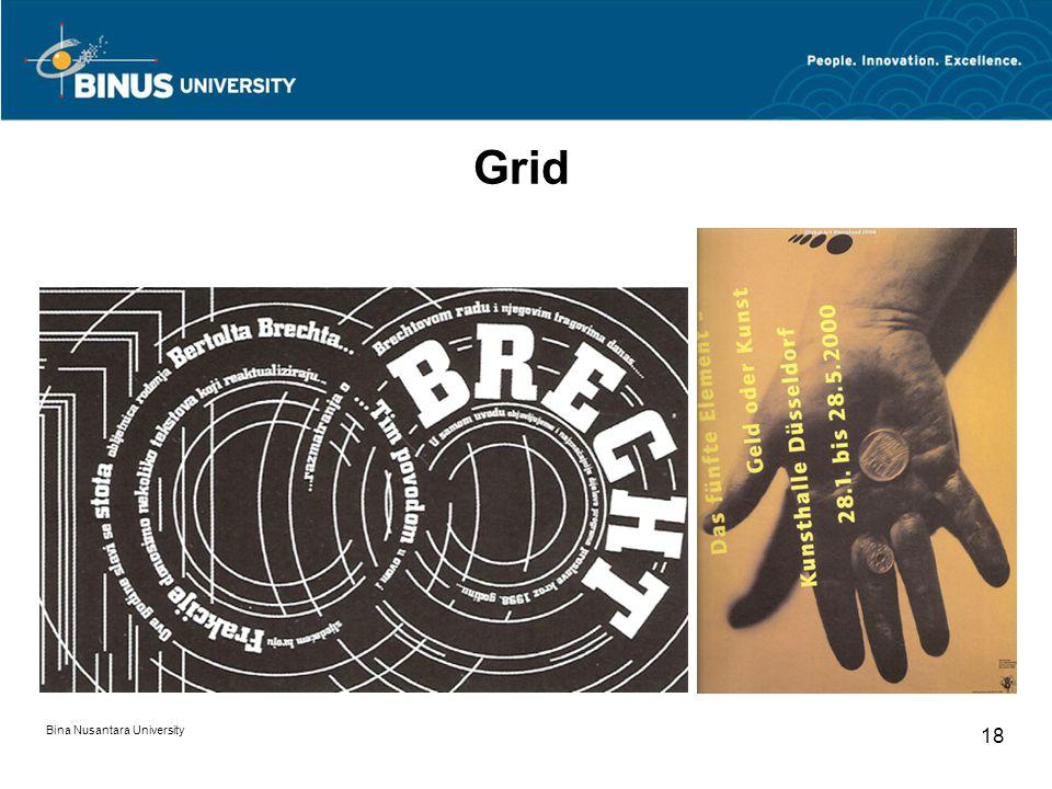Bina Nusantara University 18 Grid