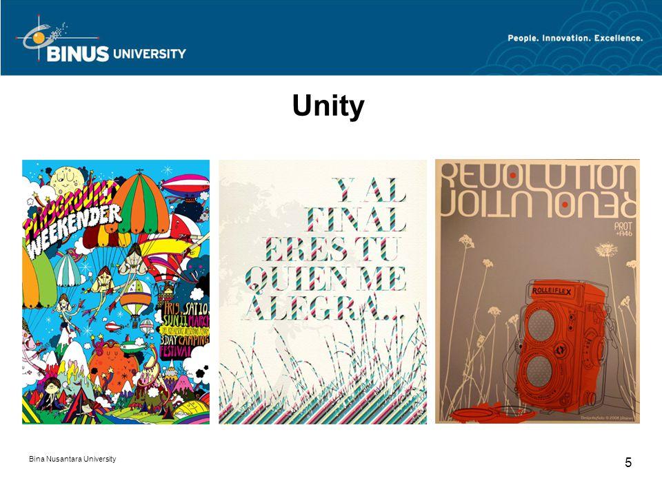 Bina Nusantara University 5 Unity