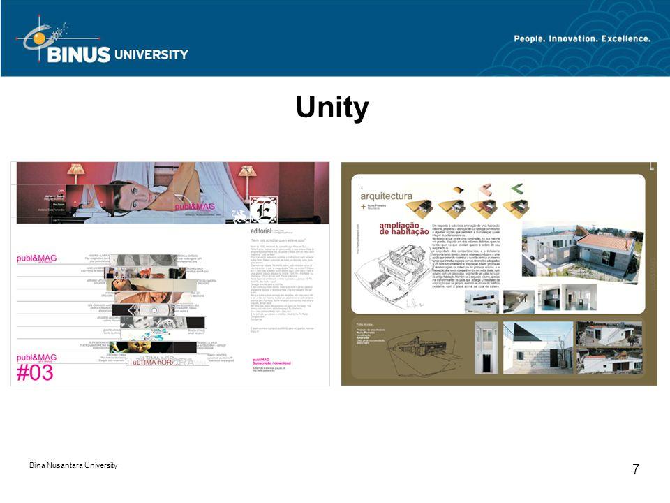 Bina Nusantara University 7 Unity