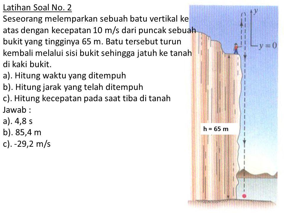 h = 65 m Latihan Soal No.