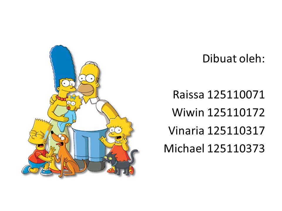 Dibuat oleh: Raissa 125110071 Wiwin 125110172 Vinaria 125110317 Michael 125110373