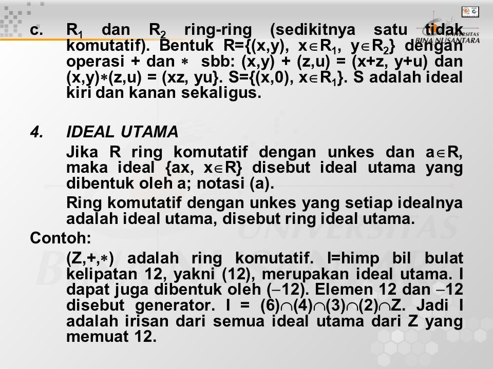5.Ideal Prima (R,+,  )=ring komutatif.